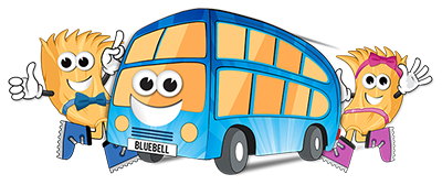 Daft as a Brush Bluebell Bus Logo