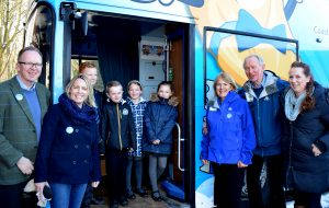 Schoolchildren and the BBC visit Bluebell Bus!